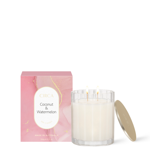 Coconut & Watermelon Soy Candle