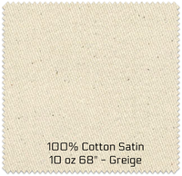 """100% Cotton Satin - 10 oz 68"""""""