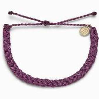 Pura Vida Braided Dark Lilac Bracelet