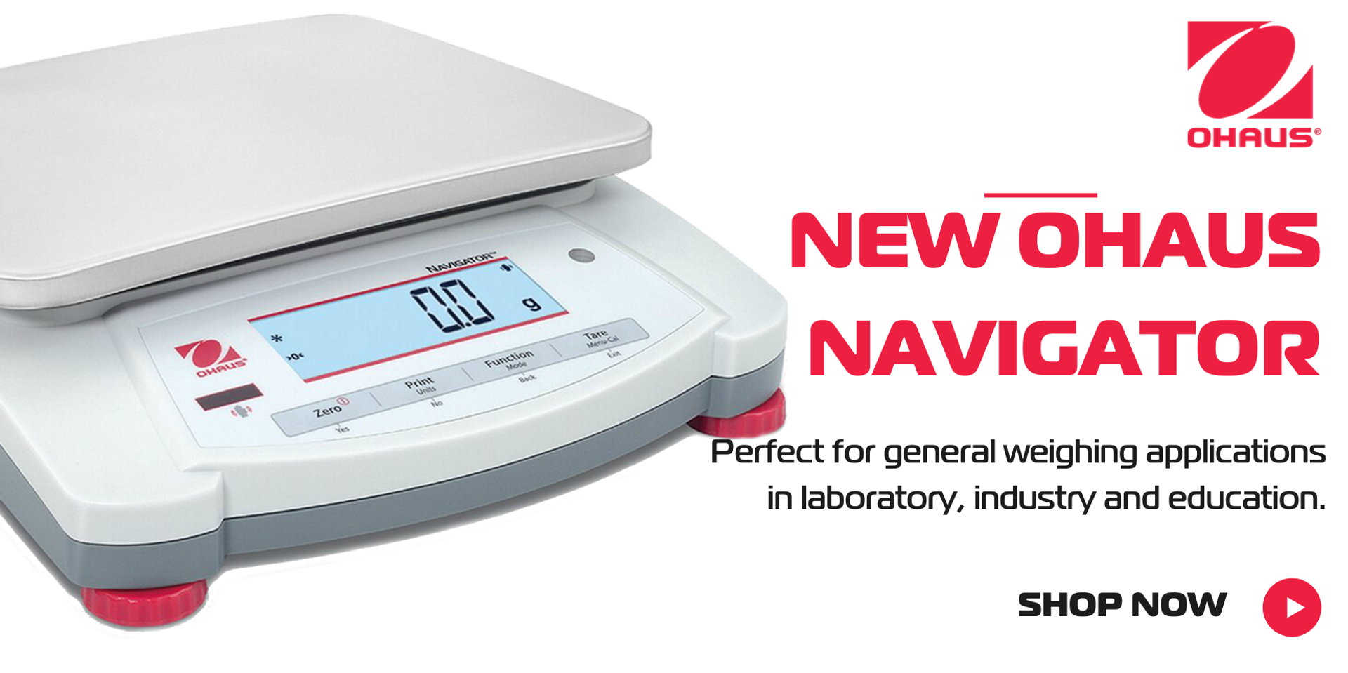 Newly re-designed Ohaus Navigator