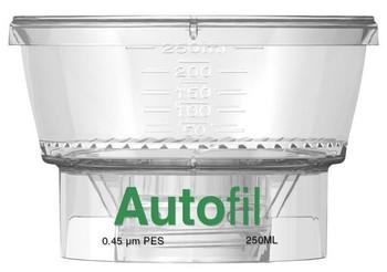 Autofil 250ml Bottle Top Filter Funnel 0.45 um PES