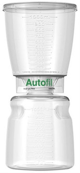 Autofil 1000ml Bottle Top Filter 0.2 um PES Full Assembly
