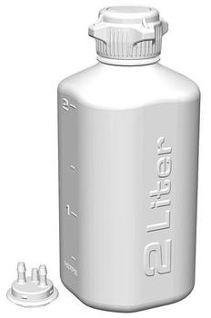 Foxx Life Sciences  2L HDPE HD Plastic Vacuum Bottle, 162-2102-OEM