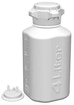 Foxx Life Sciences 4L HDPE HD Plastic Vacuum Bottle, 162-4202-OEM