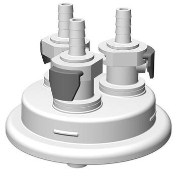 "VersaCap Adapter, 83mm, 3x 1/4"" HB, Quick Connect, 205-3004-RLS"