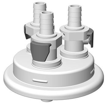 "VersaCap Adapter, 83mm, 3x 3/8"" HB, Quick Connect, 205-3005-RLS"