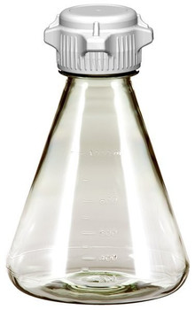 Sterile 1 Liter Erlenmeyer Polycarbonate Flask with 53mm Vented Cap 248-4142-OEM