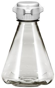 1 Liter Sterile Baffled Erlenmeyer Polycarbonate Flask with 53mm Cap 248-4232-OEM
