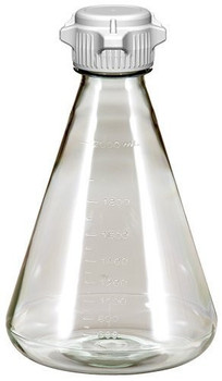 Sterile 2 Liter Erlenmeyer Polycarbonate Flask with 53mm Vented Cap 248-5142-OEM