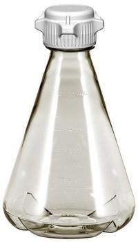 2 Liter Baffled Erlenmeyer Polycarbonate Flask with 53mm Cap 248-5231-OEM