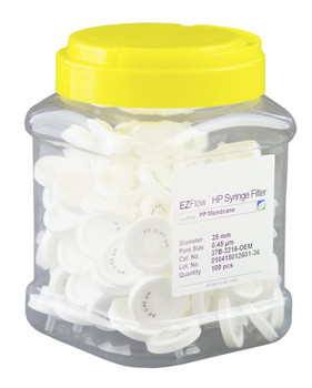 EZFlow Syringe Filter, 0.45um PP, 25mm, 37B-3216-OEM