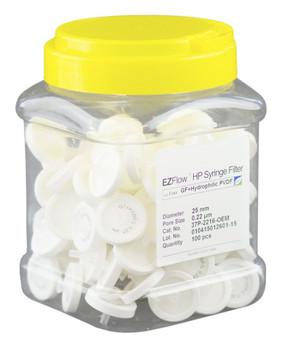 EZFlow Syringe Filter, 0.45um Glass Fiber, 25mm, 37C-3216-OEM