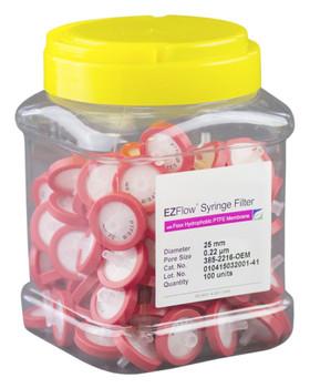 EZFlow Syringe Filter Sample Prep, 0.22um, Hydrophobic PTFE, 25mm, 385-2216-OEM