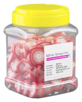 EZFlow Syringe Filter Sample Prep, 0.45um, Hydrophobic PTFE, 25mm, 385-3216-OEM