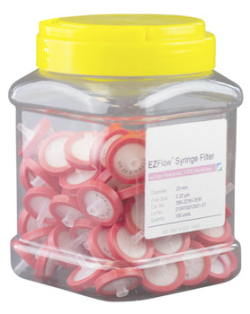 EZFlow Syringe Filter Sample Prep, 0.22um, Hydrophilic PTFE, 25mm, 386-2216-OEM