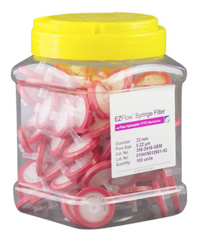 EZFlow Syringe Filter Sample Prep, 0.22um, Hydrophilic PTFE, 33mm, 386-2416-OEM