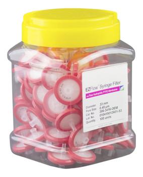 EZFlow Syringe Filter Sample Prep, 0.45um, Hydrophilic PTFE, 33mm, 386-3416-OEM