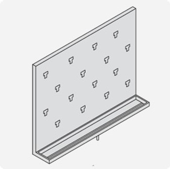 Stainless Steel Lab Pegboard Drying Rack 24 x 18