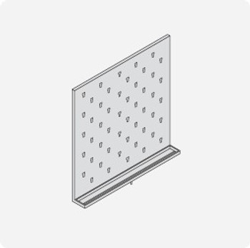 Stainless Steel Lab Pegboard Drying Rack 30 x 30