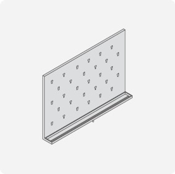 Stainless Steel Lab Pegboard Drying Rack 36 x 24