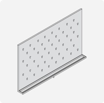 Stainless Steel Lab Pegboard Drying Rack 48 x 30