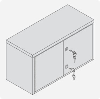 Double Door Narcotics Cabinet w/ Dual Key Locks
