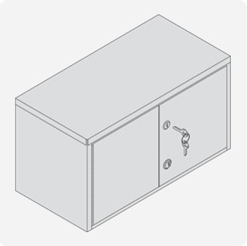 Combination & Key Lock Cabinet - Large