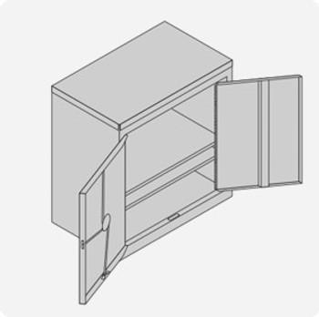 Double Door Cylinder Lock Cabinet - Large