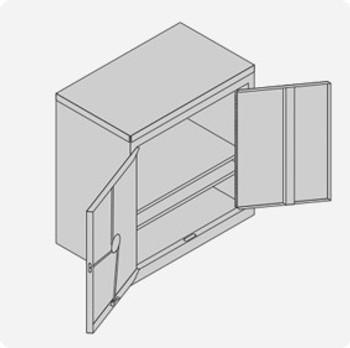 Double Door Cylinder Lock Cabinet - Medium