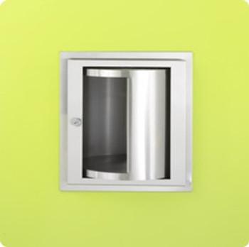 Stainless Steel Turntable Specimen Pass Thru Cabinet - 0515