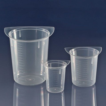 three corner polypropylene beaker