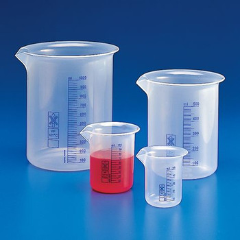 low form griffin polypropylene beakers printed graduations