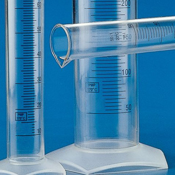 Globe Scientific Polymethylpentene printed graduated cylinder