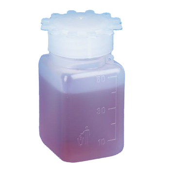 Globe Scientific 50mL Graduated Wide Mouth Bottle with Screwcap