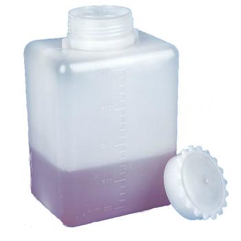 Globe Scientific 2000mL Graduated Wide Mouth Bottle with Screwcap