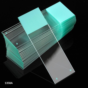 aqua frosted diamond white charged microscope slides