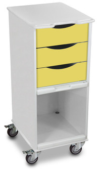 Compact 3 Drawer Lab Cart, Bright Idea Yellow