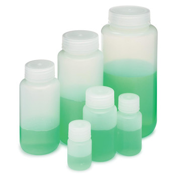 globe scientific diamond realseal ldpe wide mouth round bottles