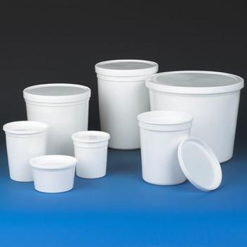 globe scientific white hdpe multi purpose containers