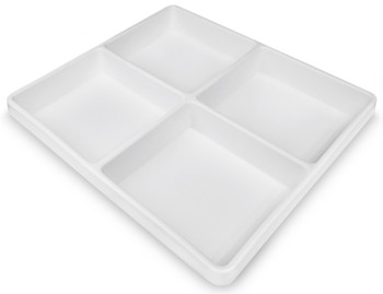 4 Compartment Polystyrene Drawer Organizer, Large