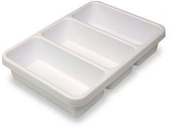 Compact Tray and Drawer Organizer - Triple Pocket