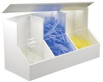 PVC/Acrylic Dispensing & Organizing Bin - Large