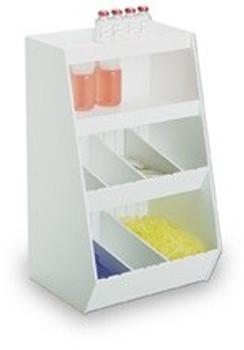 MRI Double Shelf Adjustable Storage Bin - 8 bins