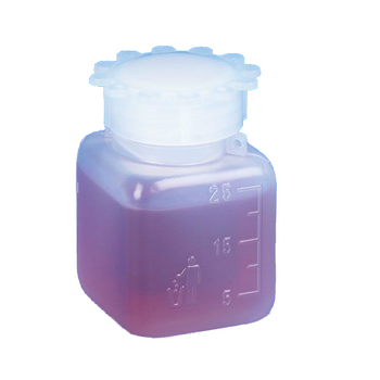 Globe Scientific 25mL Graduated Wide Mouth Bottle with Screwcap