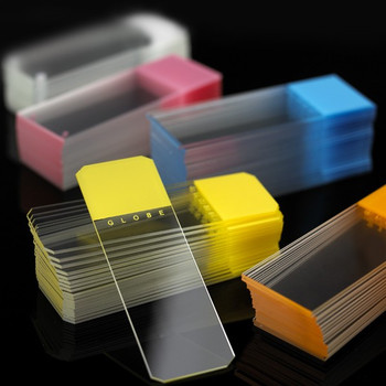 45° Beveled Edge Color Coded Microscope Slides - 25 x 75mm