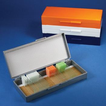 50 place microscope slide box