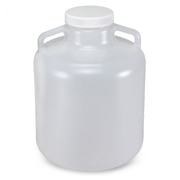 Globe Scientific Diamond RealSeal Wide Mouth LDPE Carboys, 10L