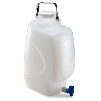 Globe Scientific Diamond RealSeal Rectangular PP Carboys with Spigot, 20L