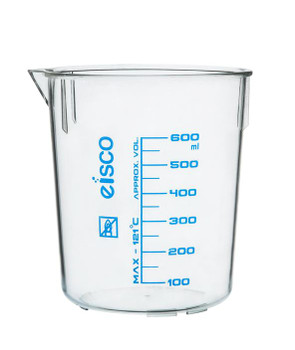 TPX plastic beaker 600mL