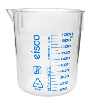 TPX plastic beaker 1000mL